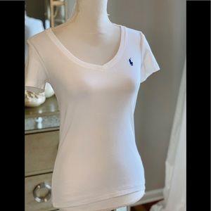 Short sleeve top - blue emblem Ralph Lauren sport